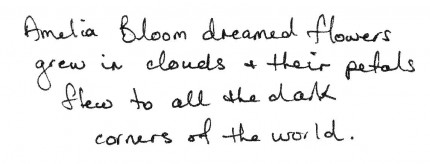 amelia bloom petal cloud text