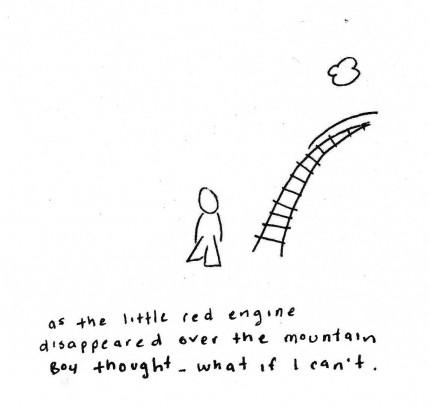 boy little red engine