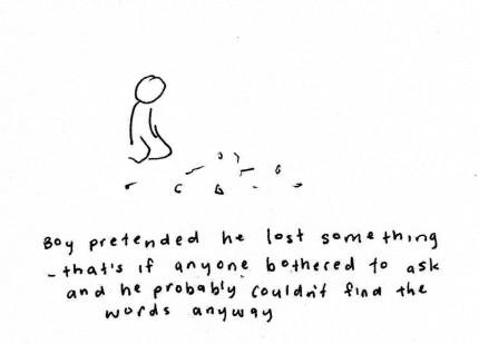 boy pretended